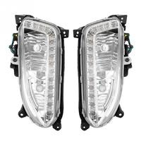 1 Pair 12V Car Daytime Running Light DRL Fog Lamp Cover for Hyundai Santa Fe/IX45 2013 2015 High Quality