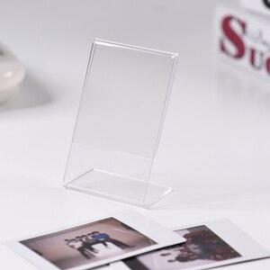 """Image 5 - Акриловая фоторамка Andoer 3 """"L образной формы, прозрачная мини подставка для Fujifilm Instax Mini 8, 8 + 70, 7s, 90, 25, 26, 50s, 9, зеркальная пленка"""