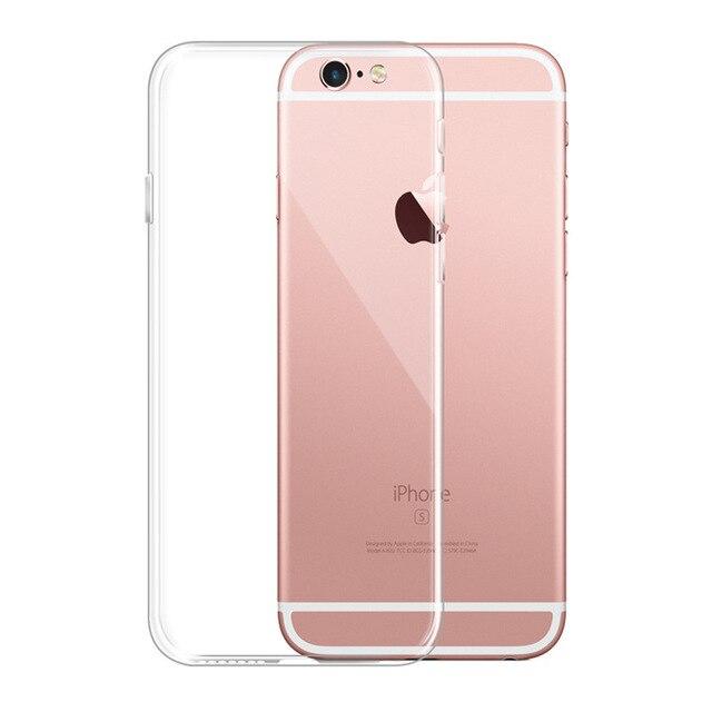 Moda Suave TPU Crystal Clear Gel de Silicone Caso de Telefone Ultra Fino Caso Capa de Silicone para o iphone XS MAX XR 7 8 6 6 S Plus 5 5S X
