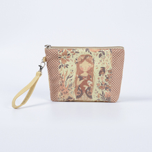 New Big Size Women Make Up Bags Flower Floral Canvas Zipper Cosmetic Case Simple Casual Girl Lady Pouch Storage Travel Organizer