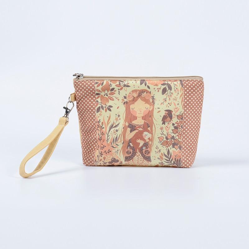 New Big Size Women Make Up Bags Flower Fs