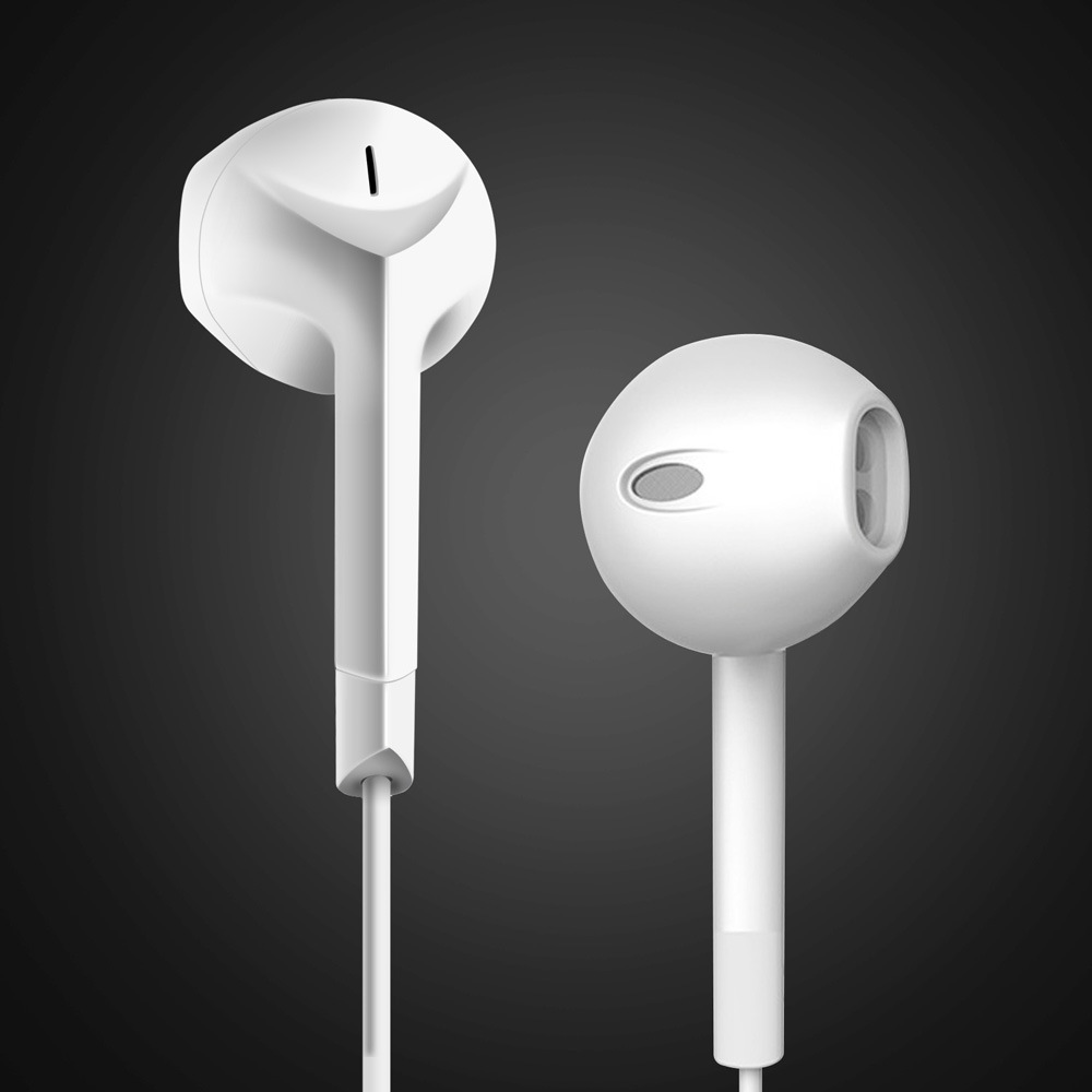 2018 Real New Earphone Ptm P6 Foreign Trade Sells For Apple Universal Line Control With Wheat Stereo Semi Earphone Headphones.