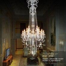 Большая лестница, длинная роскошная хрустальная люстра для отеля, Современная длинная люстра K9 для лобби отеля, люстры для свечей