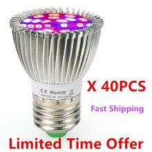 40 шт./лот) 28 Вт 28 светодиодный светильник для выращивания E27 полный спектр светодиодный светильник для выращивания теплицы