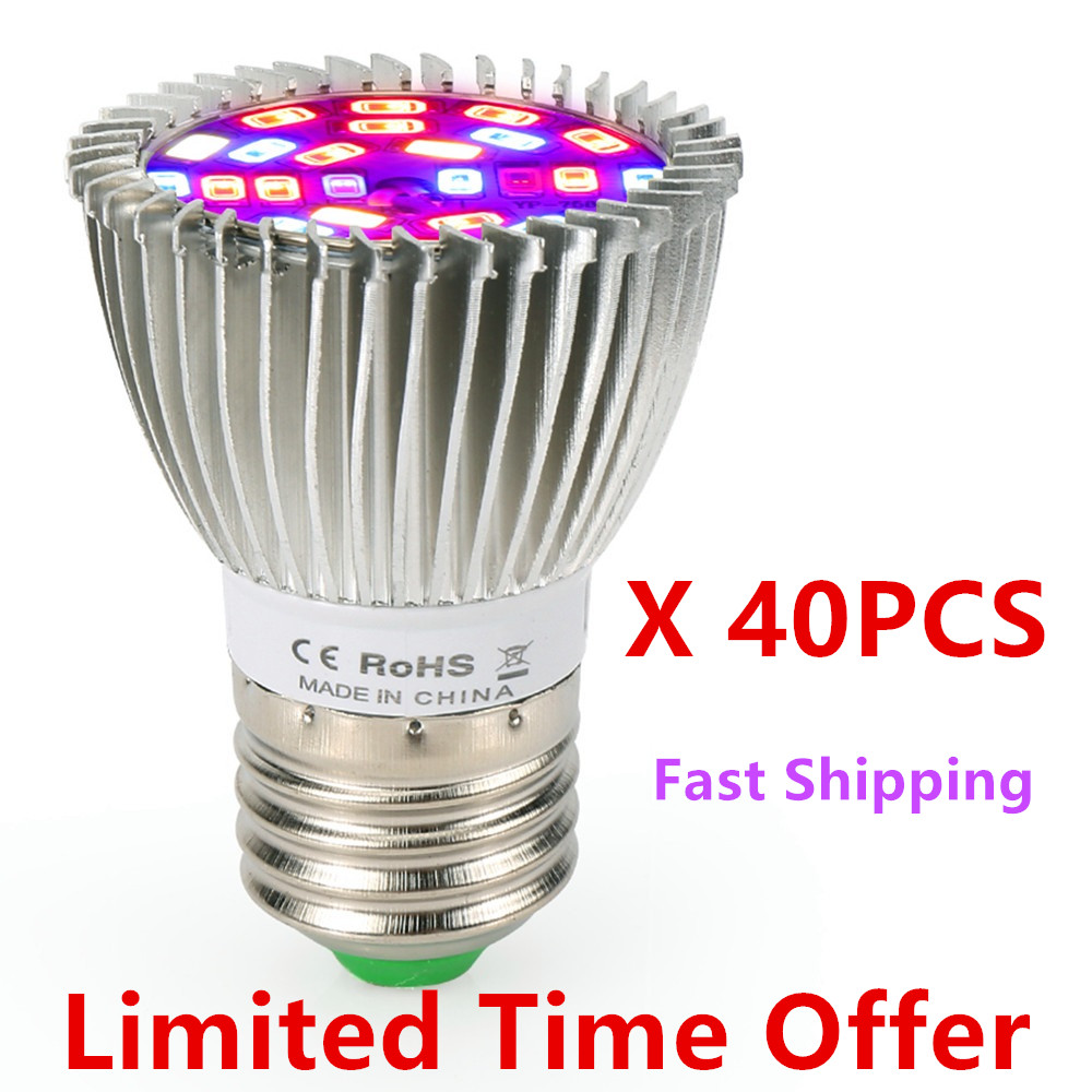 (40pcs/Lot) 28W 28LED Grow Light E27 Full Spectrum Growth LED Bulb Greenhouse Plant Lamp ------ Limited Time Offer