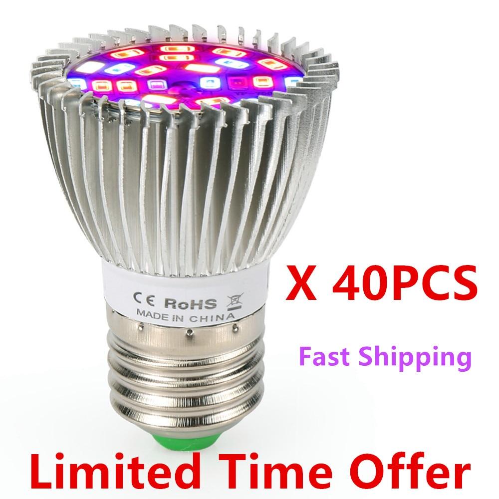 (40pcs/Lot) 28W 28LED Grow Light E27 Full Spectrum Growth LED Bulb Greenhouse Plant Lamp ------ Limited Time Offer