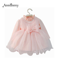 New Newborn 2017 Summer Baby Girl Dress Long Sleeve Children Princess Dresses For Birthday Clothes Toddler