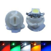 10 шт./лот B8.4 B8.4D T5 5050 1SMD светодиодные лампы для приборной панели, клиновидные лампы для приборной панели автомобиля, DC 12 В
