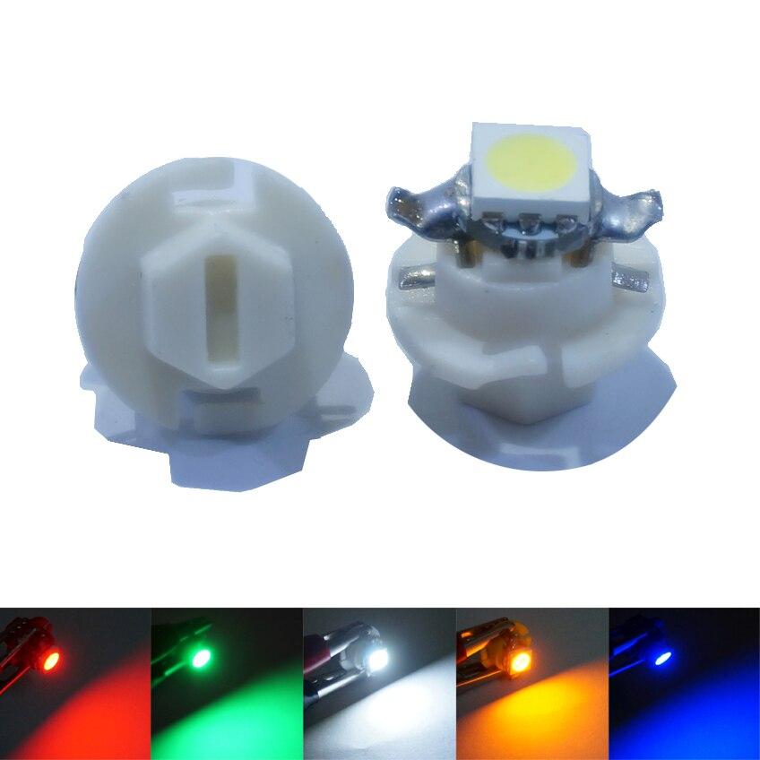10 pçs/lote b8.4 b8.4d t5 5050 1smd led luzes do painel da lâmpada do instrumento automático cunha carro dashboard lâmpadas dc 12 v