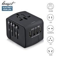 LONGET Travel Adapter Internazionale Adattatore di Alimentazione Universale All-in-one con 3.4A 4 USB In Tutto Il Mondo Caricabatterie Da Muro per UK/EU/AU/Asia