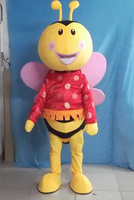little cute honeybee bee mascot costumes party Halloween character party Fancy Dress school team sport Adult Size hot sale