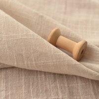 Beige Bamboo Thin Pure Cotton Gauze Zen Original Shirt Blouse Robe Scarf Hood Dress Curtain Fabric