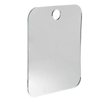 Akrylowe lustra do golenia łazienka przeciwmgielne lustro prysznicowe łazienka unikalna konstrukcja prysznic golenie lustro tanie i dobre opinie STAINLESS STEEL Podświetlany Rectangle Nowoczesne 6 cal Nie posiada Bezramowe lustra SILVER Inne