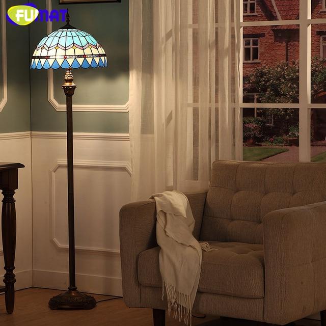 Fumat art glass floor lamp european style stained glass baroque fumat art glass floor lamp european style stained glass baroque sunflower stand lampe living room bar aloadofball Images