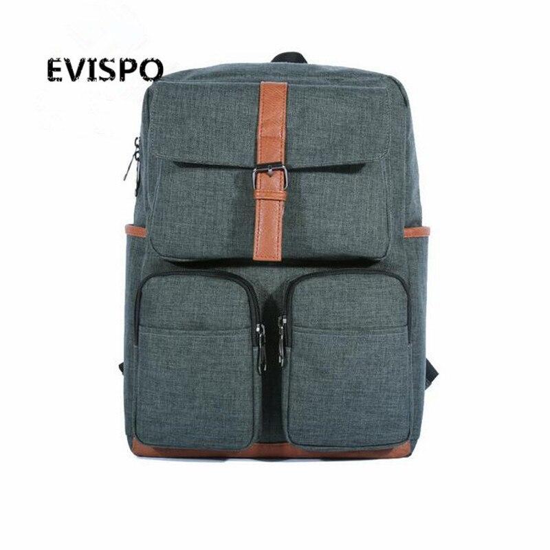 EVISPO Multifunction Men 17inch Laptop Backpacks For Teenager Fashion Male Mochila Leisure Travel backpack
