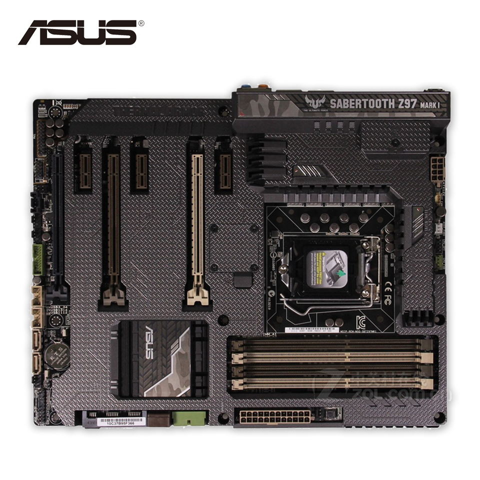Asus SABERTOOTH Z97 MARK 1 Desktop Motherboard Z97 Socket LGA 1150 i7 i5 i3 DDR3 32G SATA3 ATX Second-hand High Quality