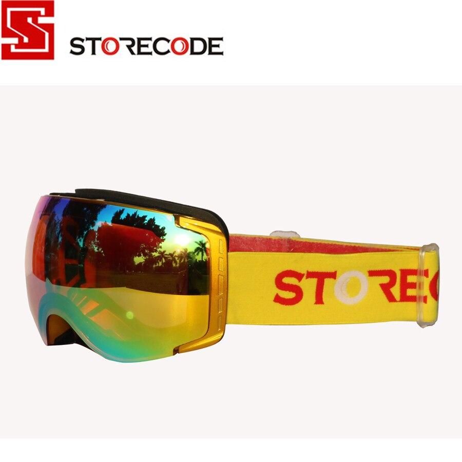 Скидка storecode бренд лыжные очки двойной линзы анти-туман Анти-царапинам УФ-защита WH658