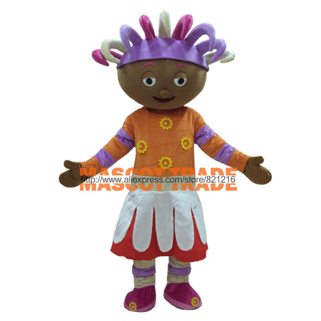 upsy daisy mascot costume in the night garden mascot costume for halloween party event