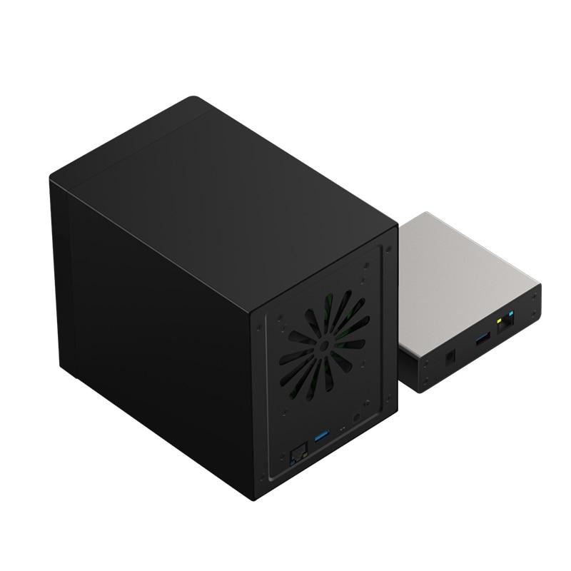 Gigabit Ethernet NAS HDD Enclosure Smart HDD Case for 2 5 3 5 Hard Disk Gigabit