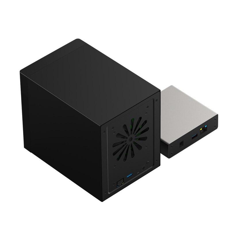 Ethernet Gigabit NAS Hdd HDD Smart Case para 2.5 ''3.5'' Hard Disk Interface Ethernet Gigabit Nas Remoto disco de acesso