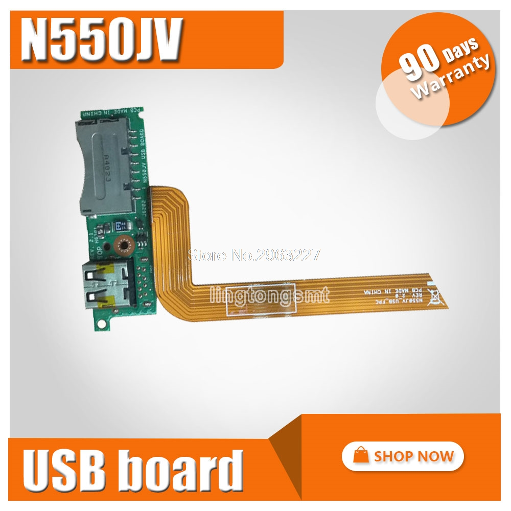 with cable For asus N550 N550J N550LF N550JV USB Card Reader Port Board with Cable 69N0Q2B10C01