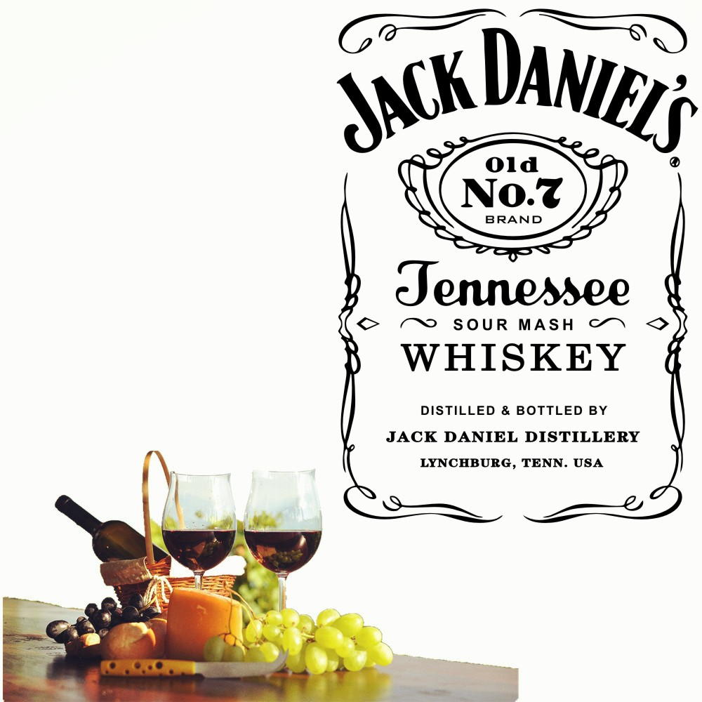 YOYOYU Wall Decals Jack Daniels JD Wall Art Sticker Jennesse Whiskey Carving Quote Wal Decoration Removable Stickers Y013