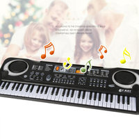 61 Keys Electronic Music Keyboard Electric Organ with Microphone Children Early Educational Tool YS BUY