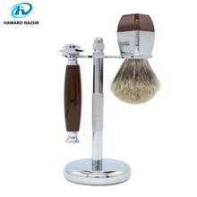 HAWARD Razor Men's Shaving Set Classic Safety Razor + 100% High Quality Pure Badger Hair Shaving Brush + Razor Stand