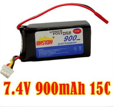 7.4V 900MAH 15C lipo battery For rc helicopter airplane+free shipping