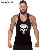 Men Bodybuilding Tank Tops Gyms Muscle Stringer Singlets Fittness Vest Shirt Sportwear Y BACK Racer