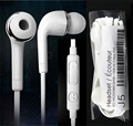 Noodle Flat cord Noise canceling Earphone with MIC and Volume Control for samsung S4 i9500 S4 white color