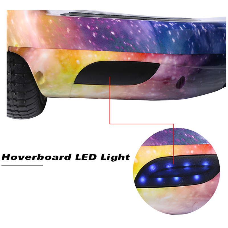 Electric Hoverboard Gyroscooter 6.5Inch Kids Smart Self Balancing Scooter Led Motor Light Wheels Bluetooth Skateboard overboard