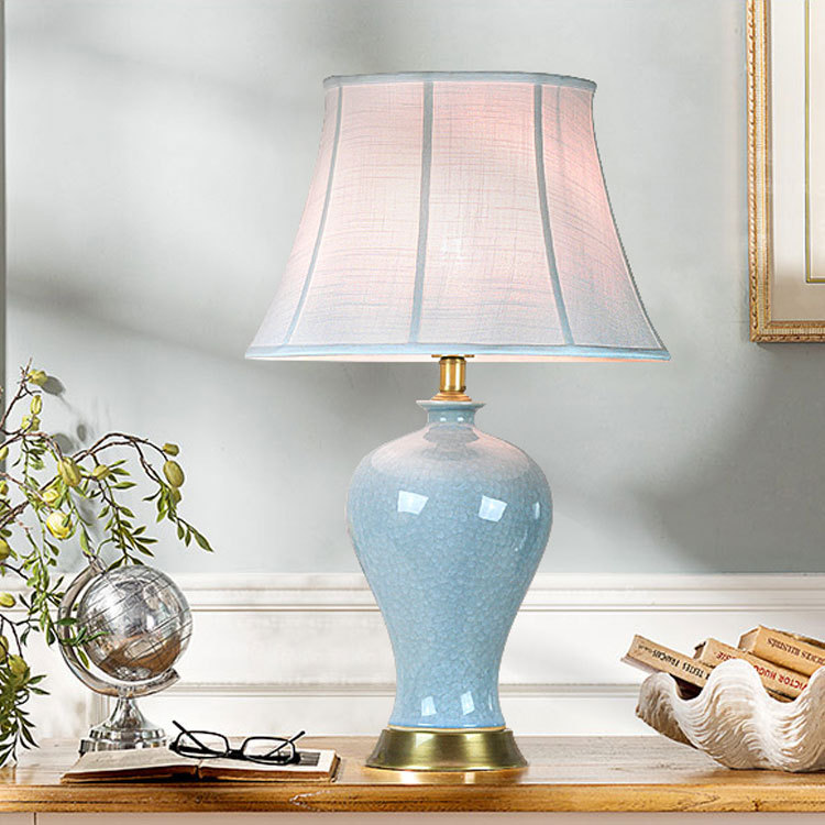 tuda european style frozen ceramic table lamps study room. Black Bedroom Furniture Sets. Home Design Ideas