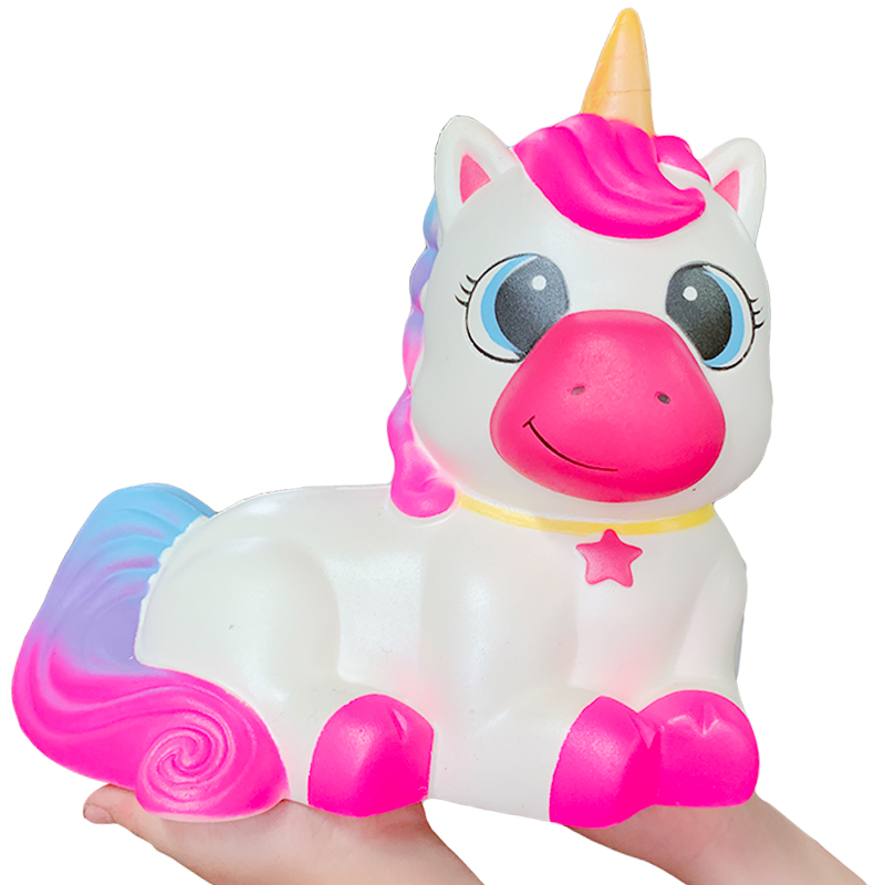 Oversized Cute Unicorn Squishy Slow Rising Soft Bread Cake Scented Squeeze Toys Simulation Stress Relief For Children Toy Gift