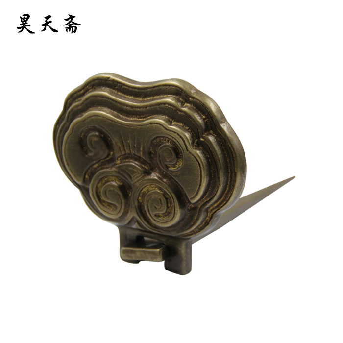 [Haotian vegetarian] Chinese home copper fittings / wishful plaque care / ticked / painting hanging HTM-014