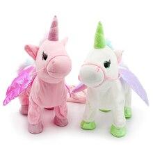 35cm  Usocute walking unicorn plush toy stuffed animal toys children kid baby cute