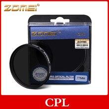 Zomei CPL Polarisant Circulaire Polarisant Filtre pour Canon Nikon Sony Caméra Lentille 30/37/40.5/49/52/55/58/62/67/72/77/82/86mm