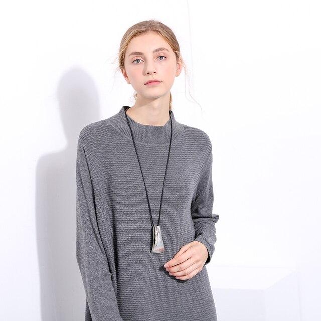 2017 Commercio All'ingrosso di New monili D'argento dichiarazione collane & pendenti, vintage Lunga collana donne regalo di natale collares mujer