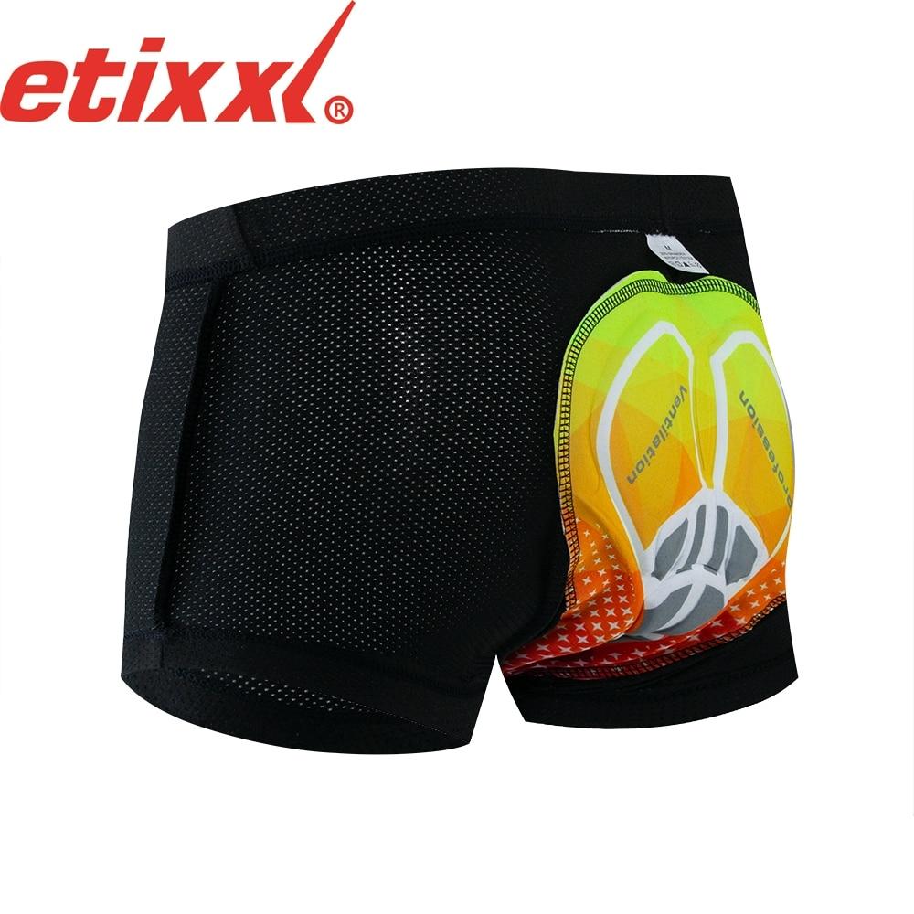 Etixxl ciclismo roupa interior da bicicleta de montanha mtb shorts equitação da bicicleta do esporte roupa interior compressão shorts 16d 20d acolchoado