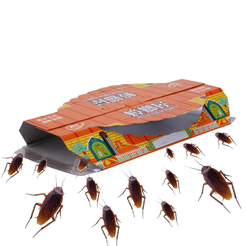 10Pcs cockroach catcher Device Killing Cockroach House Bait Sticky Board Traps Non Toxic Super sticky trap sticker