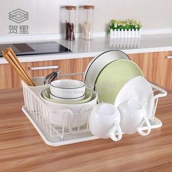 Железная кухонная сушилка для посуды полка сливная корзина для посуды посуда столовые приборы шкаф-органайзер для кухни и хранения