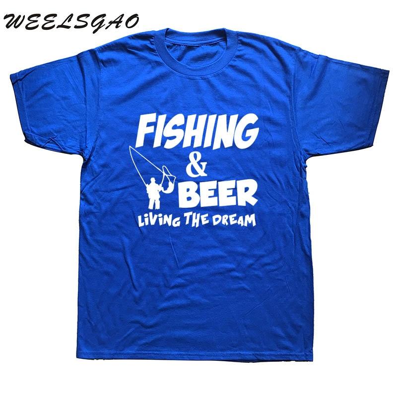 WEELSGAO Mode Sommer T Shirt Fishinger Bier Fisch Fliegen Lustige ...