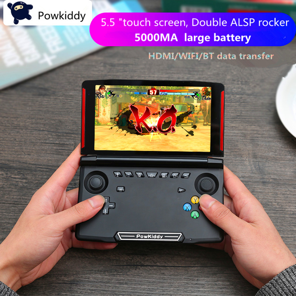Powkiddy X18 Andriod Handheld Game Console 5.5 INCH 1280*720 Screen MTK8163 quad core 2G RAM 16G ROM Video Handheld Game Player