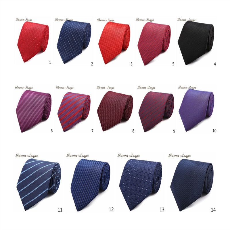 2018clothing accessories men's tie 2pieces official business necktie multicolor pattern gifts for men stripe Wedding Groom Party