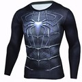 Newest 2017 Men Fashion T-shirt Black Spider Man 3D Print Long Sleeve Compression Mens T shirt Summer Brand Clothing Tops Tee