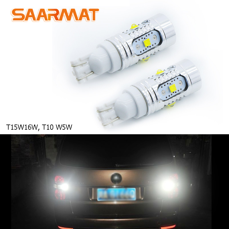 2X T15 W16W T10 W5W LED Reverse/Clearance lights Lamp 12V 25W White For Skoda Superb VW Tiguan Sharan Scirocco Passat B7 Tiguan