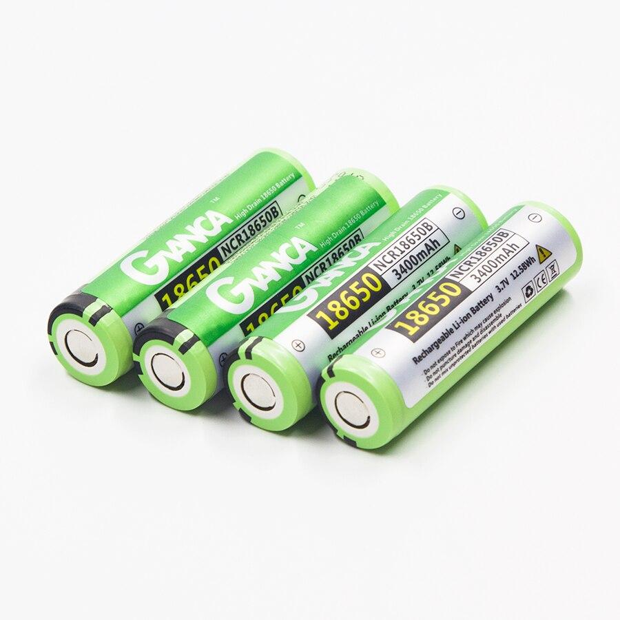 Original 18650 NCR18650B Batería 3400 mAh 3.7 V Recargable de Li-ion para la Lin