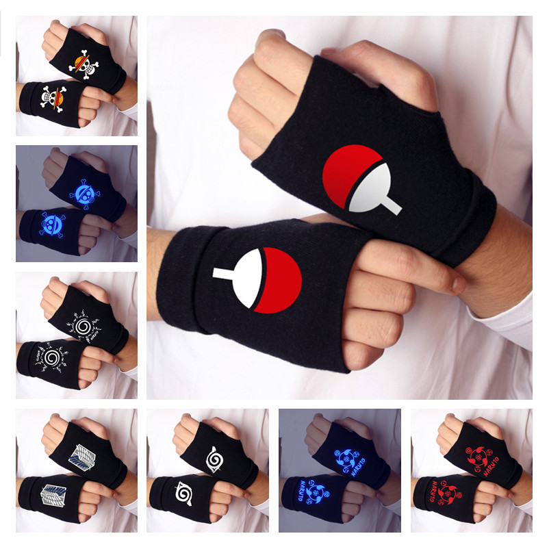 Gloves Cosplay-Accessories NARUTO Itachi Sharingan Anime Warm Kids Cotton Adult Toy Props