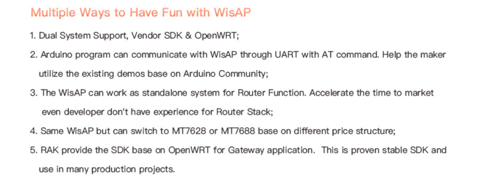 US $49 45 |MT7628 WisAP OpenWRT Arduino WIFI Router Module Board IoT  Gateway Module Repeater Access Point Module Open Source DeveloperQ147-in  Access