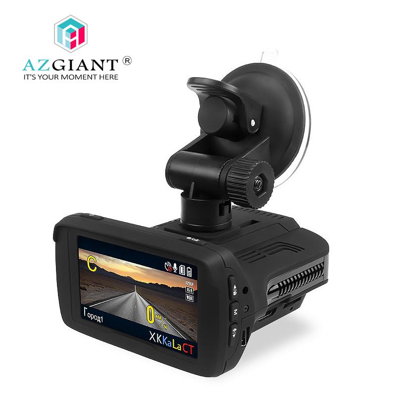 AZGIANT 2.7 inch Ambarella A7 CPU Car DVR Camear Radar Gps 3 in 1 LDWS HD 1080P Video Recorder English Russian Language DVR-015 ...